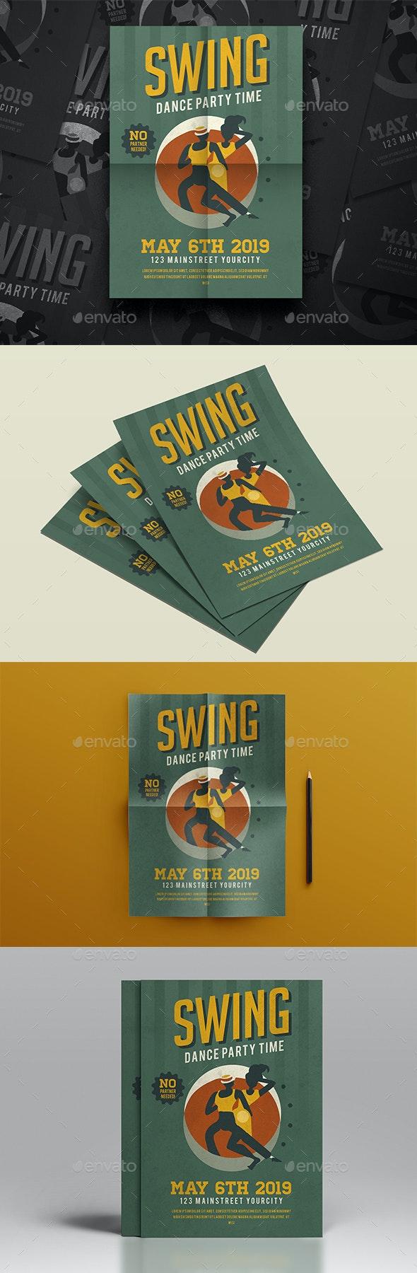 Swing Dance Flyer - Events Flyers