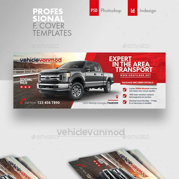 Commercial Vehicle Cover Templates