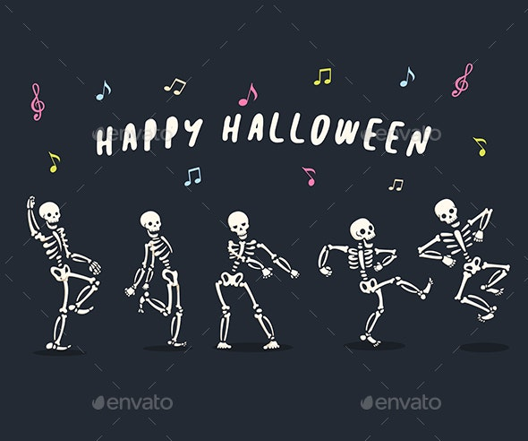 Dancing Skeletons Set - Halloween Seasons/Holidays