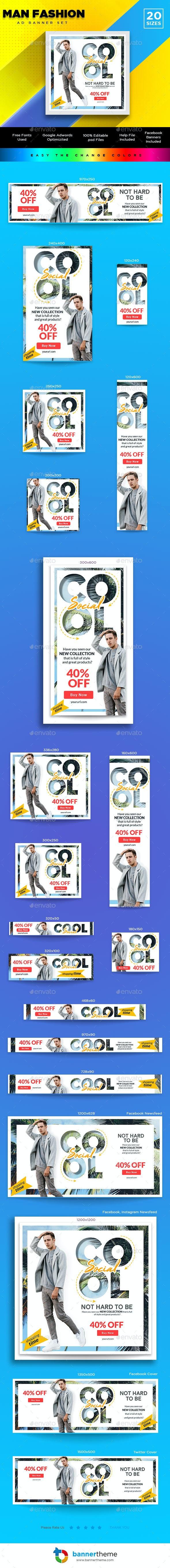 Man Fashion Banner - Banners & Ads Web Elements