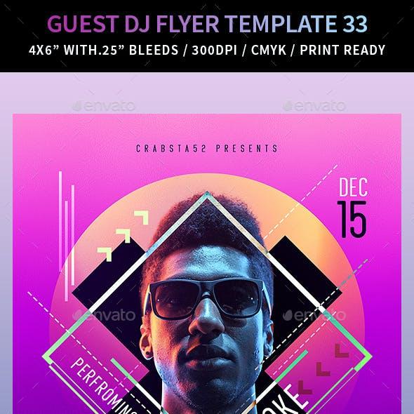 Guest DJ Flyer Template 33