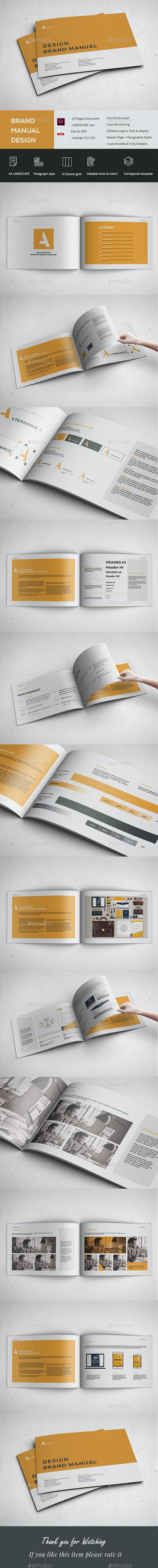 Brand Manual Landscape - Brochures Print Templates