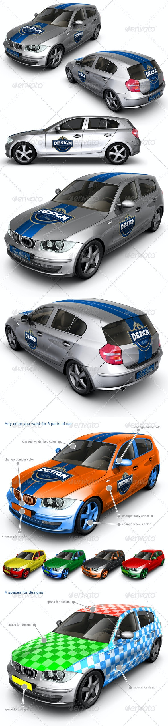 Executive/Family Car Mock Up - Vehicle Wraps Print