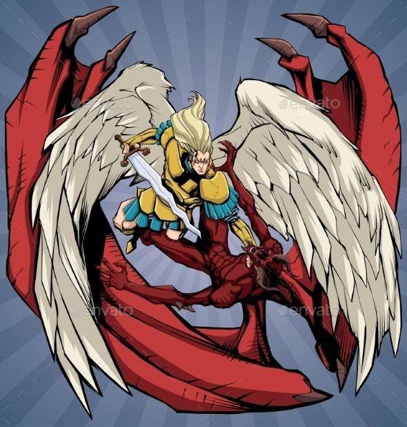 Angel Versus Devil - Religion Conceptual