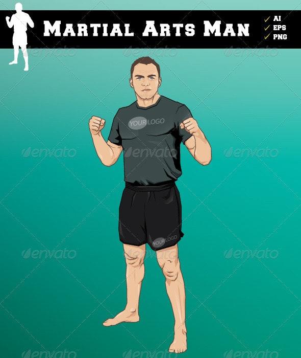 Martial Arts Man - Characters Vectors