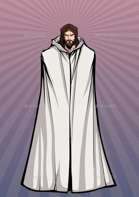 Jesus Standing Tall - Religion Conceptual