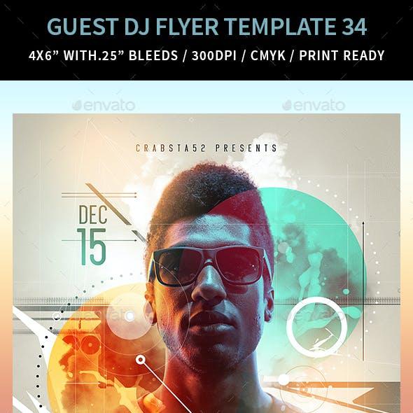 Guest DJ Flyer Template 34