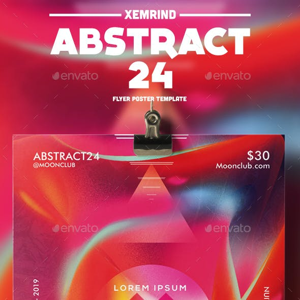 Abstract 24 Flyer/Poster Template