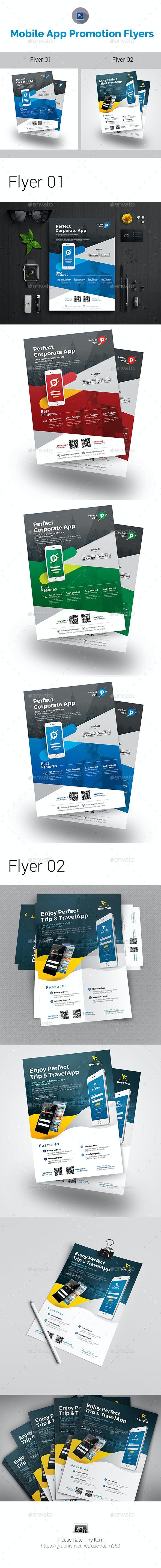 Mobile App Flyer Bundle - Corporate Flyers