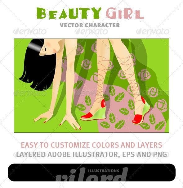 Beauty Girl - People Characters
