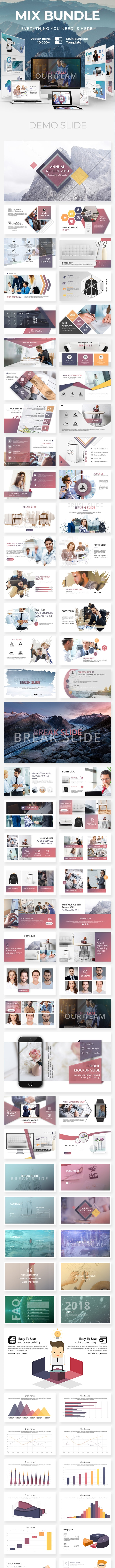 Mix Business - Bundle 2 in 1 Keynote Template - Business Keynote Templates