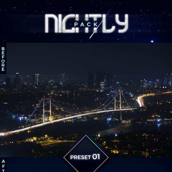 5 Lightroom Presets - Nightly Pack (+Mobile Version)