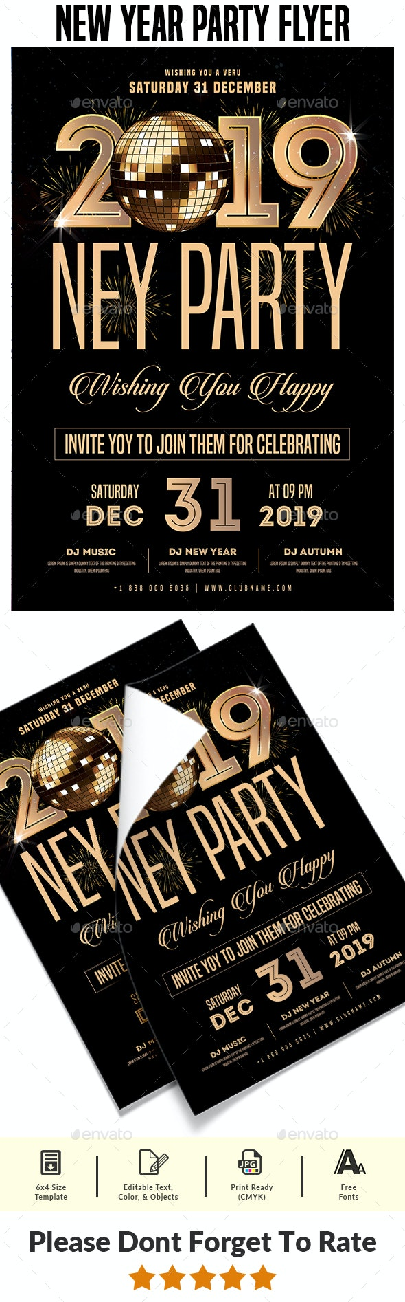 New Year Party Flyer - Events Flyers