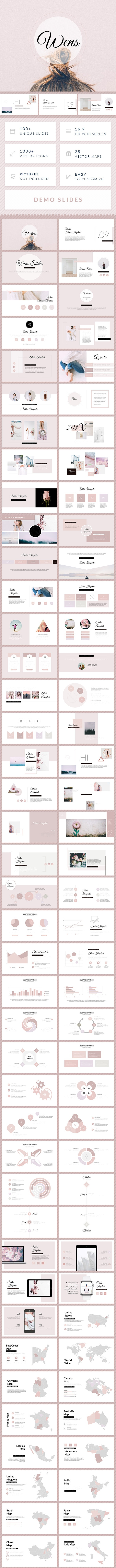 Wens - Minimal Simple Google Slides Template - Google Slides Presentation Templates