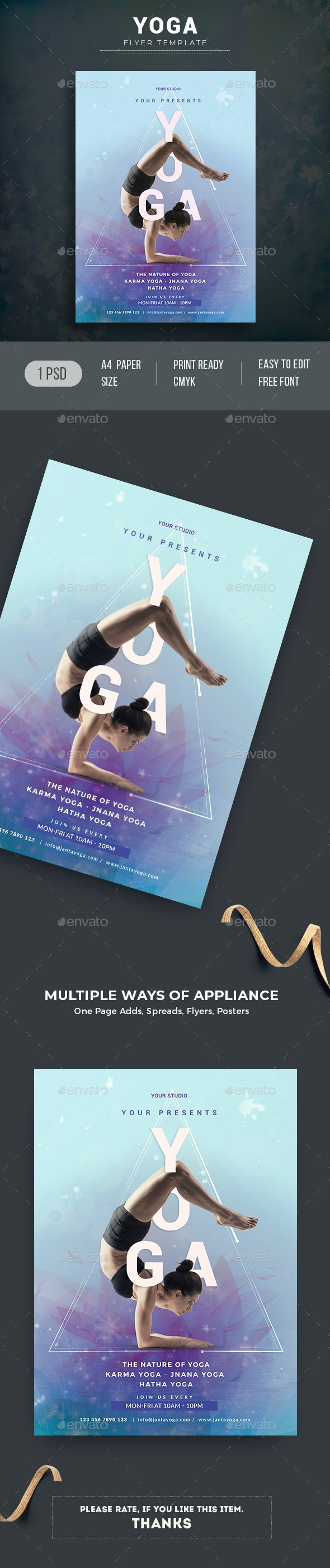 Yoga Flyer - Sports Events