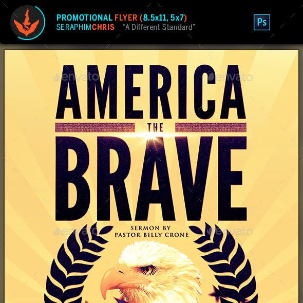 America The Brave Political Flyer Template