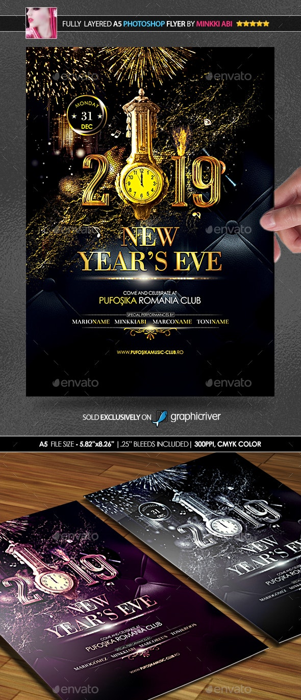 Deluxe New Year Poster/Flyer - Events Flyers
