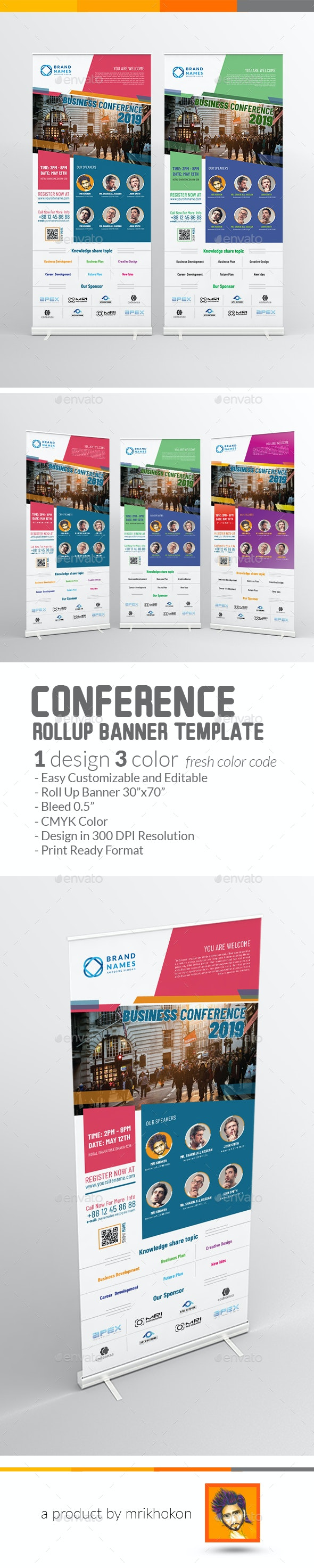 Conference Rollup Banner - Signage Print Templates