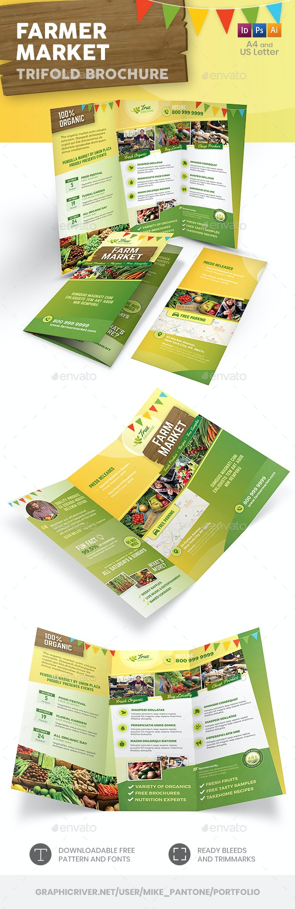 Farmer Market Trifold Brochure - Informational Brochures