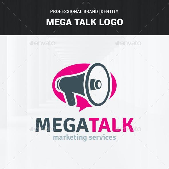 Mega Talk - Megaphone Logo Template
