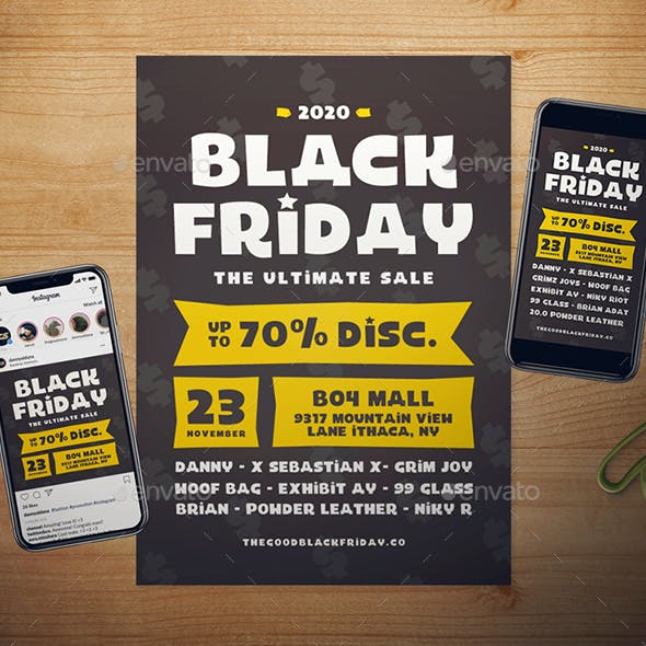Black Friday Flyer Set