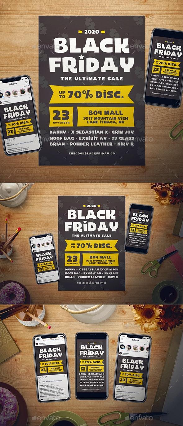Black Friday Flyer Set - Events Flyers