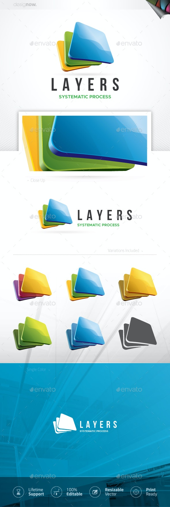 Three Squares Logo - Symbols Logo Templates