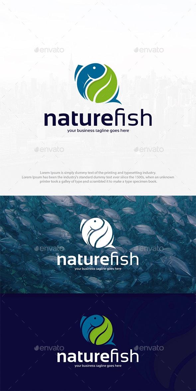 Nature Fish Logo Template - Animals Logo Templates