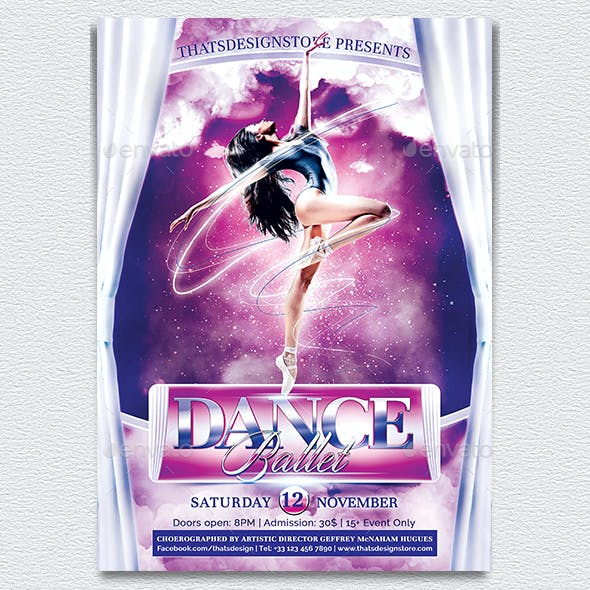 Dance Ballet Flyer Template V1