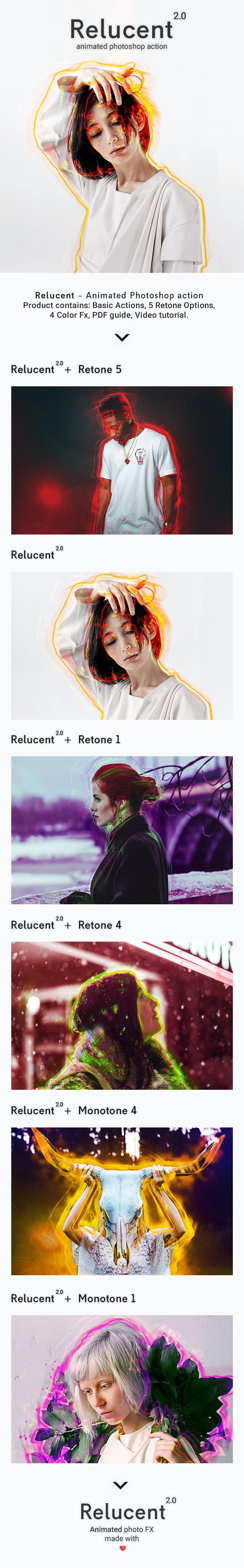 Animated Relucent 2.0 - Photoshop Action - Photo Effects Actions
