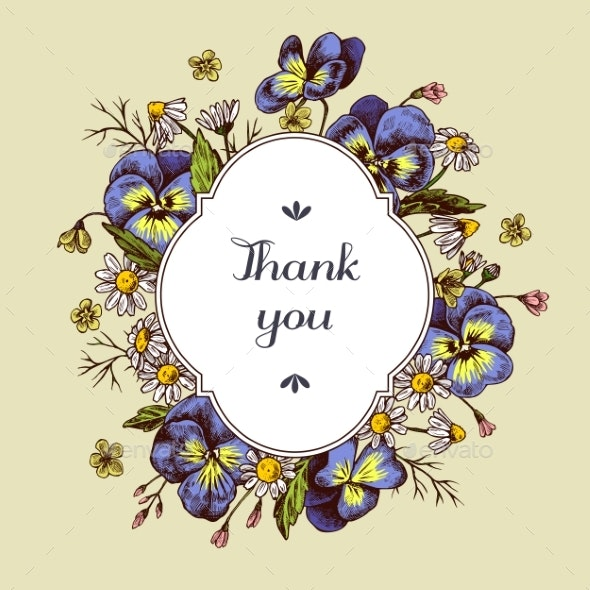 Thank You Badge Over Chamomiles - Flowers & Plants Nature