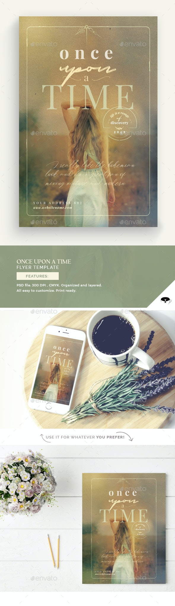Once Upon A Time Flyer Template - Flyers Print Templates