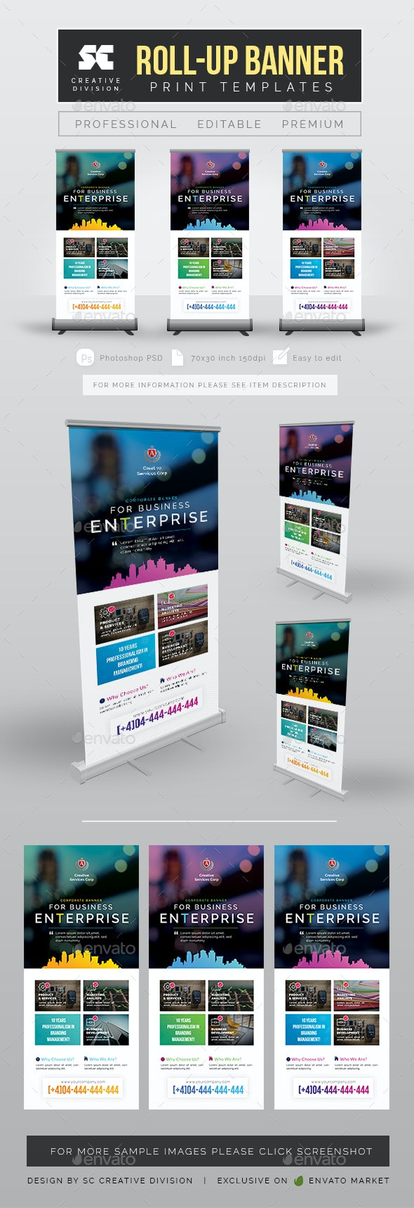 Creative Business Roll Up Banner - Signage Print Templates
