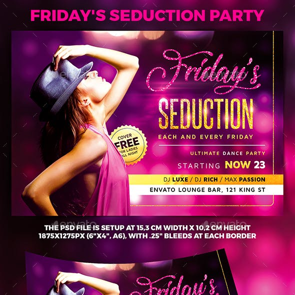 Friday's Seduction Party Flyer