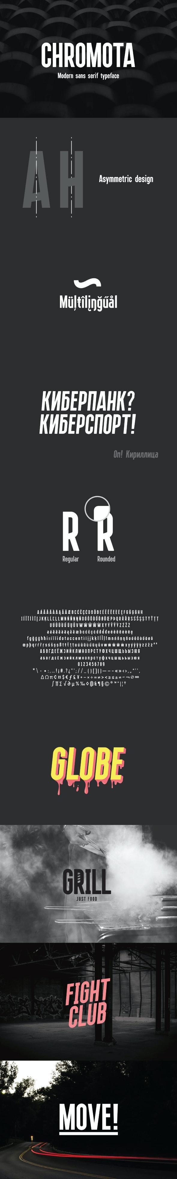 Chromota - 4 Fonts - Sans-Serif Fonts