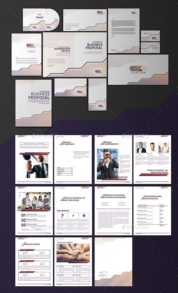 Branding Design & Proposal Templates - Stationery Print Templates