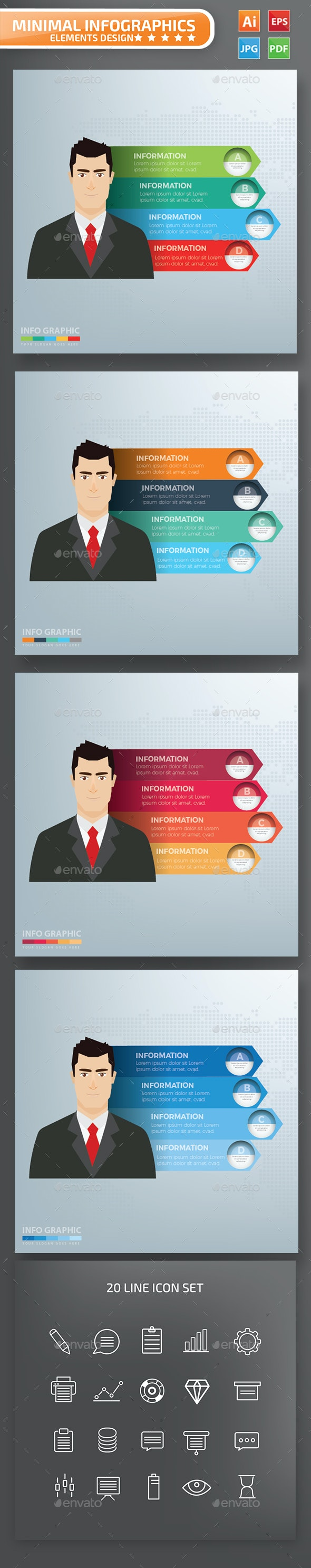 Businessman Infographics Design - Infographics