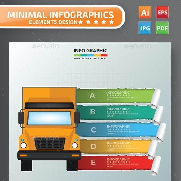 Truck Infographics Design