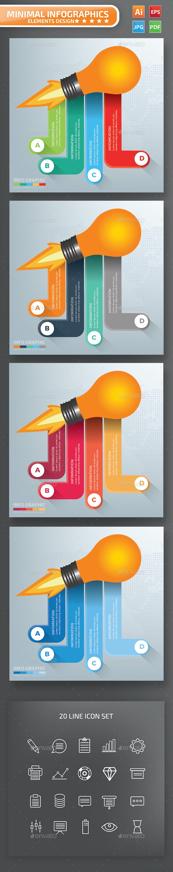 Light bulb Infographics Design - Infographics
