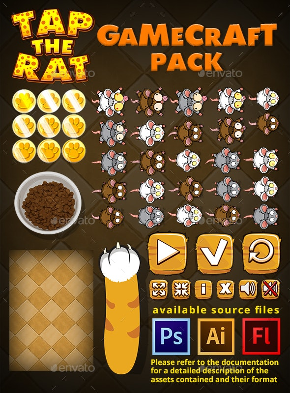 Tap the Rat - Game Assets - Game Kits Game Assets