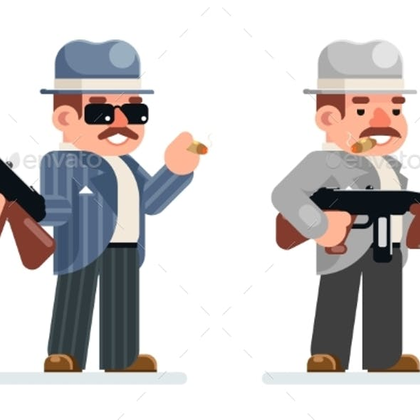 Gangster Dangerous Retro Criminal Submachine Gun