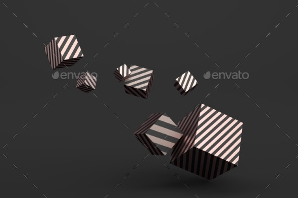 Abstract 3D Rendering of Geometric Shapes - Abstract 3D Renders