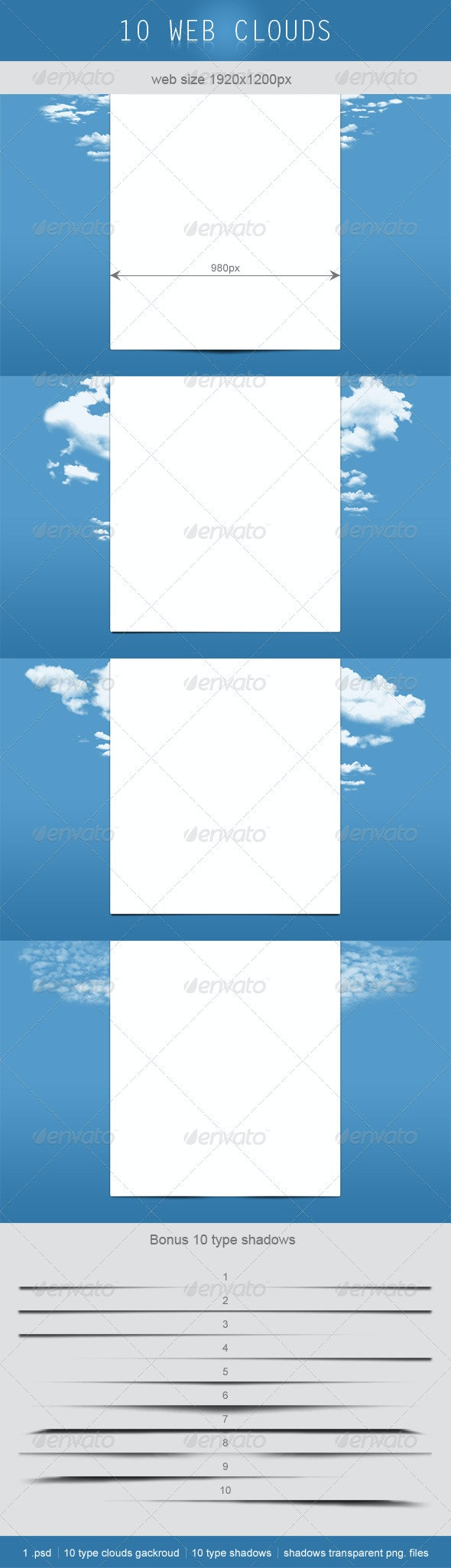 Web Clouds Background  - Nature Backgrounds