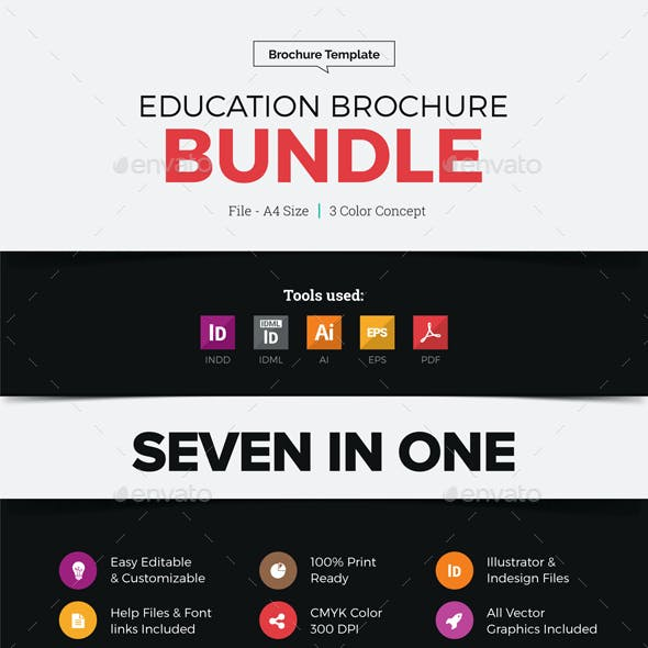Educational Prospectus Brochure Bundle