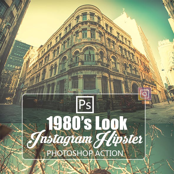 Instagram Hipster 1980 Look Photoshop Action