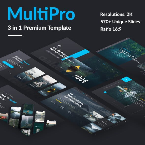 3 in 1 Multipro Pitch Deck Bundle Keynote Template