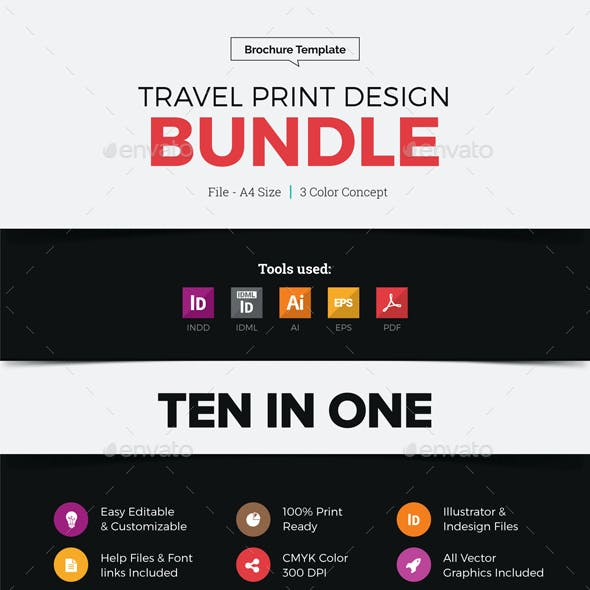 Travel Agency Print Design Bundle