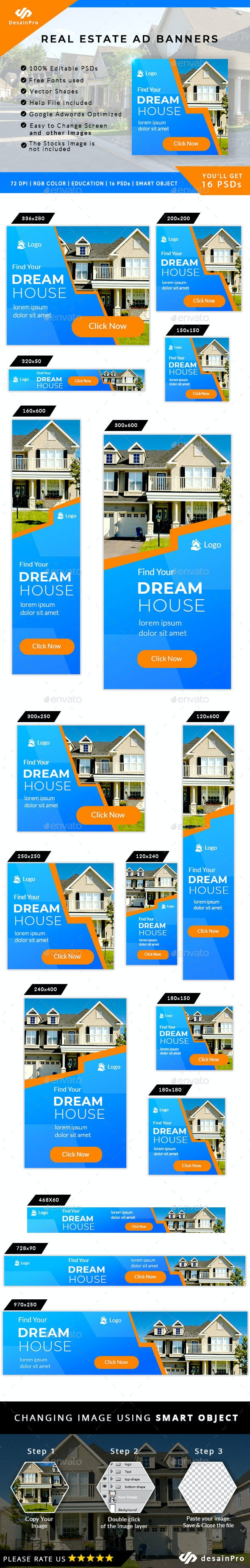 Real Estate Ad Banner - AR - Banners & Ads Web Elements