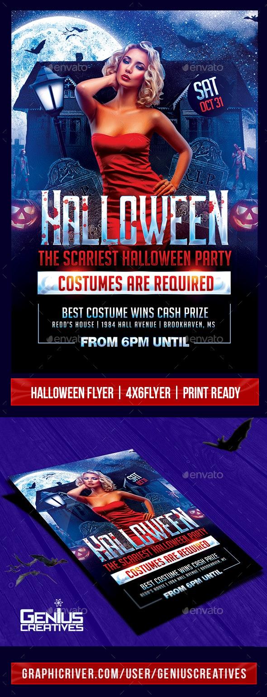 Halloween Party Flyer Template V5 - Church Flyers