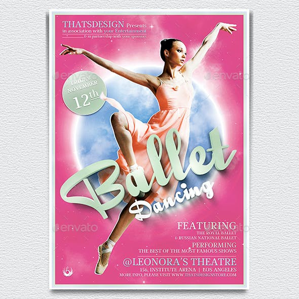 Dance Ballet Flyer Template V2